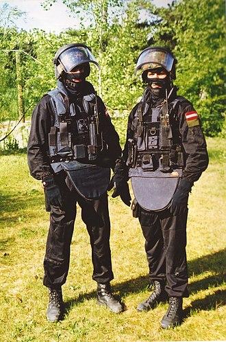 EKO Cobra - Two members of EKO Cobra in operational loadout (historic).