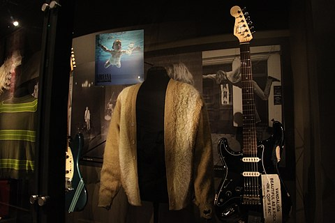 Nirvana memorabilia at EMP Museum in Seattle, Washington EMP Museum - Nirvana (15632245508).jpg