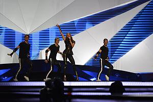Hannah Mancini - Hannah performing at the Eurovision 2013 Semi-Final.