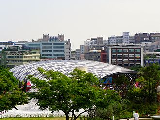 Taipei International Flora Exposition - Image: EXPO Hall Birdview 20110425a