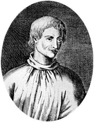 Giordano Bruno - The earliest depiction of Bruno is an engraving published in 1715 in Germany, presumed based on a lost contemporary portrait.