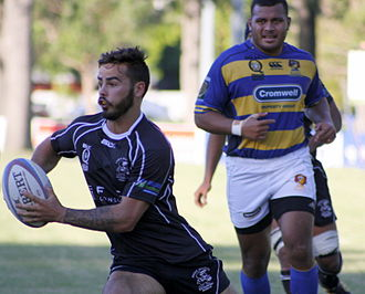 Souths Rugby - Souths player with the ball versus Easts at Bottomley Park, 11 April 2015