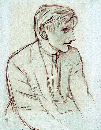 Edmund Blunden - Edmund Blunden by William Rothenstein, chalk, 1922