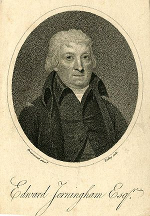 Edward Jerningham - A print based on Samuel Drummond's portrait of Edward Jerningham dating from 1800