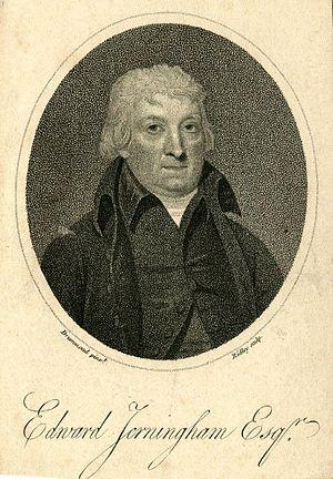 Edward Jerningham - A print based on Samuel Drummond's portrait of Edward Jerningham dating from 1800