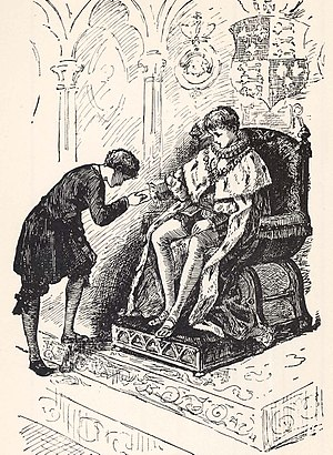 The Prince and the Pauper - The pauper and Prince Edward as imagined in 1899