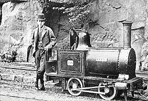 Launch-type boiler - Locomotive Effie on Sir Arthur Heywood's Duffield Bank Railway