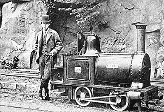 Launch-type boiler - Locomotive Effie on Sir Arthur Heywood's Duffield Bank Railway