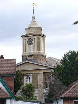Egham Parish Church Tower - geograph.org.uk - 1501629