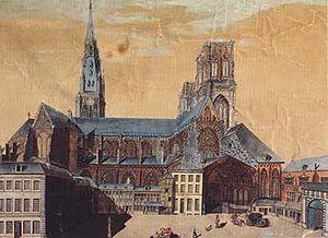 Bonaparte, First Consul - The cathédrale Saint-Lambert in Liège in 1780