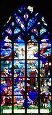 Eglise Saint Malo de Dinan, Côtes d'Armor, verrière 25, Saint Vincent Ferrier, Extrait 5508.jpg