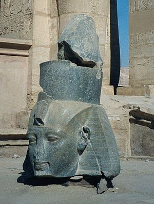 Younger Memnon - The pair to The Younger Memnon, still at the Ramesseum