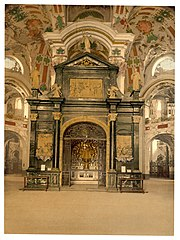 Einsiedeln, the Lady chapel (interior)