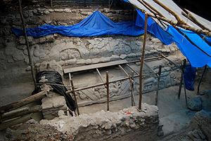 El Mirador - Stucco friezes at El Mirador that adorned the banks of a water-collecting system.