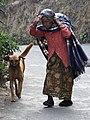 Elderly Woman with Dog - Darjeeling - West Bengal - India (12406856673).jpg