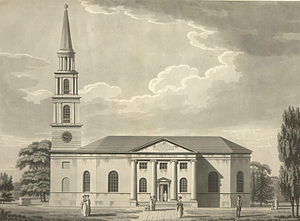 St Peter and St Leonard's Church, Horbury -  Drawing of Horbury Church from 1791