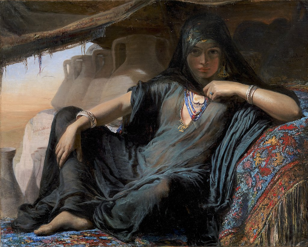 Элизабет Иерихау Бауманн - Продавец египетских горшков в Гизе - KMS8791 - Statens Museum for Kunst.jpg
