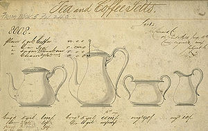 Elkington & Co. - Image: Elkington Co tea coffee set 1860