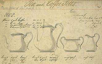 Elkington & Co. - Image: Elkington Co tea coffee set 1860