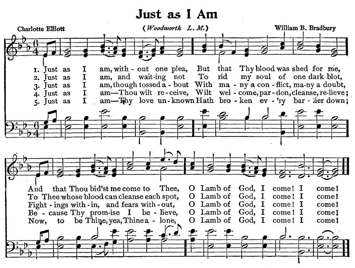 Just As I Am (hymn) - Wikipedia
