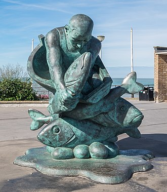 Deal, Kent - Embracing the Sea (1998) by Jon Buck at the entrance to the pier
