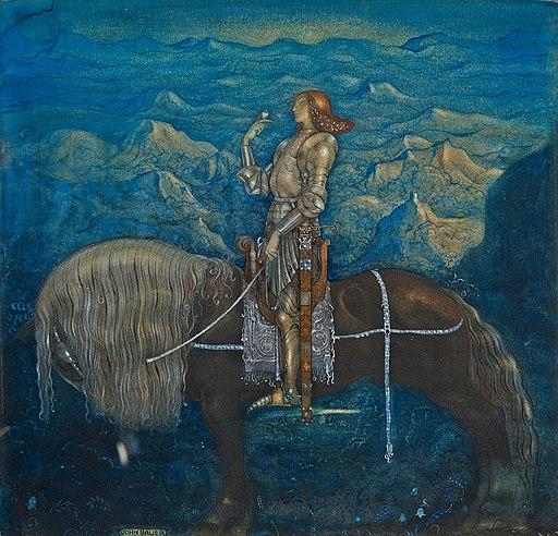 En riddare red fram (A knight rode on) by John Bauer