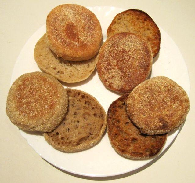 File:English muffins wheat rye.jpg