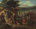 Erminia and the Shepherds (Eugène Delacroix) - Nationalmuseum - 19306.tif