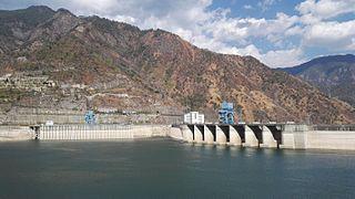 Ertan Dam dam in Sichuan, China