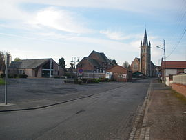 The centre of Ervillers