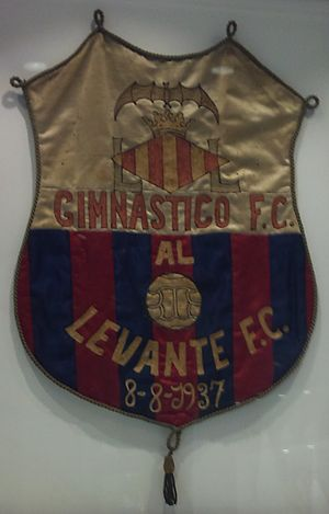 Levante UD - Pennat of Gimnàtic de València and Levante FC, the two teams that created the Levante UD