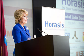 Esperanza Aguirre - Esperanza Aguirre welcoming participants at the 2010 Horasis Global India Business Meeting.