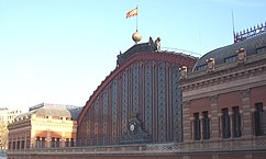 Estación de Atocha, Madrid (1888-1892), en colaboración con el ingeniero Saint-James