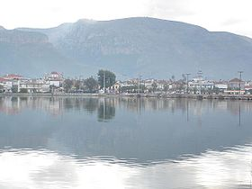 Etoliko, Etolia-Acarnania, Greece - View on city with bridges.jpg