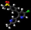 Etoricoxib molecule ball.png