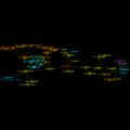 EtymTreeGraph paw-pudeo-pudetNL fillcolor Comm (Gephi original colour BBack3mixed).png