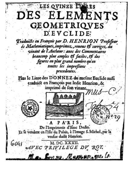 File:Euclide - Éléments géométriques, traduction Henrion, 1632.djvu