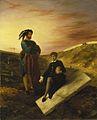 Eugène Delacroix Hamlet und Horatio auf dem Friedhof (1835) Städel Museum.jpg
