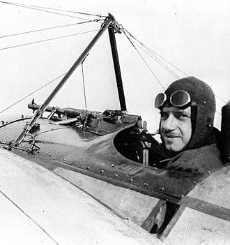 Eugène Gilbert - Eugène Gilbert in the cockpit during WW1, 1915.