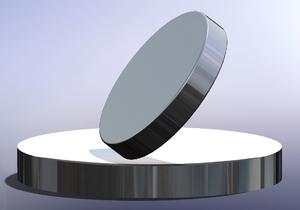 Euler's Disk - Computer rendering of Euler's Disk on a slightly concave base