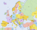 Europe countries map km 2.png