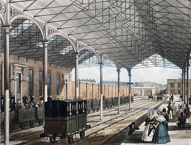 Euston station in 1837