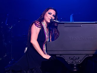 Amy Lee - Lee at The Wiltern theatre in Los Angeles, 2015