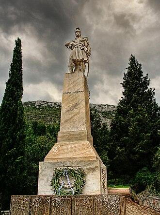 Battle of Dervenakia - Statue of Theodoros Kolokotronis at Dervenakia.