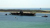 Ex-USS Oriskany leaves port, 15 May 2006
