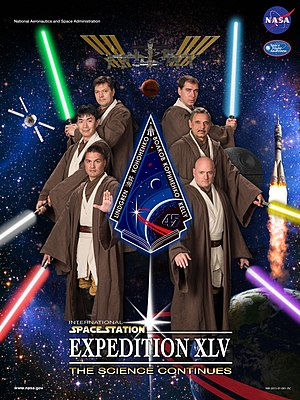 Cultural impact of Star Wars - Expedition 45 'Return of the Jedi' crew poster