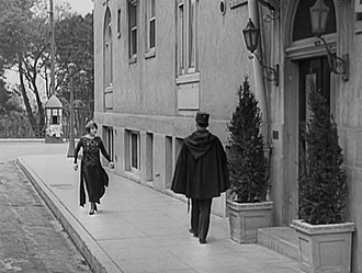 "A Woman of Paris - The Ansonia Apartments, Lake Street and W 6th Street, Historic Westlake District Of Los Angeles, Exterior Filming Location for Charles Chaplin's Silent Film ""A Woman Of Paris"" −1923"
