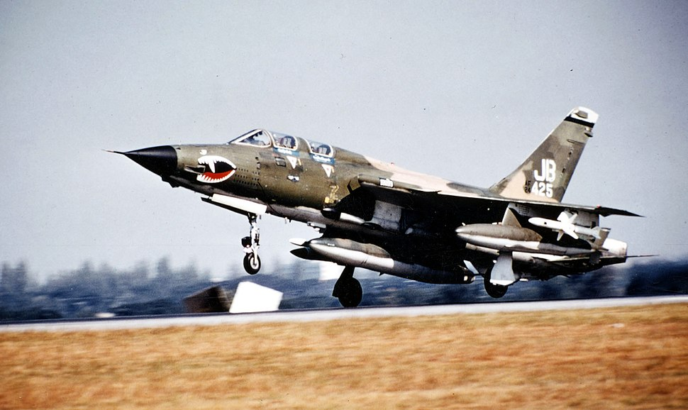F-105G landing at Korat Dec 1972