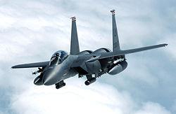 F-15E Strike Eagle banks away from a tanker.jpg