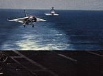 F-8J of VF-24 approaching USS Hancock (CV-19) in 1975.jpg